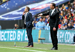 AFC Wimbledon Manager Neal Ardley and Plymouth Argyle Manager Derek Adams - Mandatory by-line: Robbie Stephenson/JMP - 30/05/2016 - FOOTBALL - Wembley Stadium - London, England - AFC Wimbledon v Plymouth Argyle - Sky Bet League Two Play-off Final
