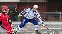 2018-11-11 | Jönköping, Sweden: Åtvidaberg BK (2) John Wallberg during the game between Jönköping Bandy IF and Åtvidaberg BK at Råslätts IP ( Photo by: Marcus Vilson | Swe Press Photo )<br /> <br /> Keywords: Råslätts IP, Jönköping, Bandy, Div. 1 Södra, Jönköping Bandy IF, Åtvidaberg BK, John Wallberg