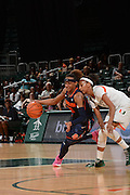 February 20, 2014: Brittney Sykes #20 of Syracuse in action during the NCAA basketball game between the Miami Hurricanes and the Syracuse Orange at the Bank United Center in Coral Gables, FL. The Orange defeated the Hurricanes 69-48.