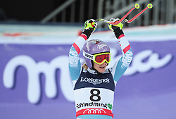 08.02.2013, Planai, Schladming, AUT, FIS Weltmeisterschaften Ski Alpin, Super Kombination, Slalom, im Bild Michaela Kirchgasser (AUT) // Michaela Kirchgasser of Austria reacts after Ladies Super Combined Slalom at the FIS Ski World Championships 2013 at the Planai Course, Schladming, Austria on 2013/02/08. EXPA Pictures © 2013, PhotoCredit: EXPA/ Sammy Minkoff