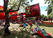 London, hyde Park, Serpentine Pavilion by Jean nouvel