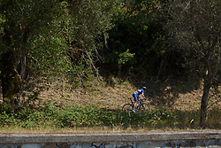 Tetyana Riabchenko in a solo move on the categorised climb on Stage 8 of the Giro Rosa - a 141.8 km road race, between Baronissi and Centola fraz. Palinuro on July 7, 2017, in Salerno, Italy. (Photo by Sean Robinson/Velofocus.com)
