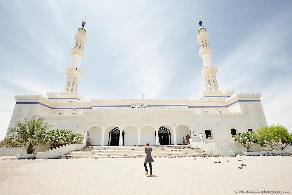 Domed Mosque on friday morning in Bani Bu Ali, Oman, 2011