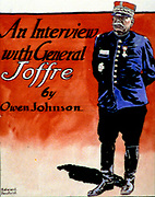 General Joffre (1852-1931), French military commander. Edward Penfield (1866-1925) American artist and illustrator. Cover of 'Collier's' magazine, 16 October 1915.  World War I.  Soldier Uniform