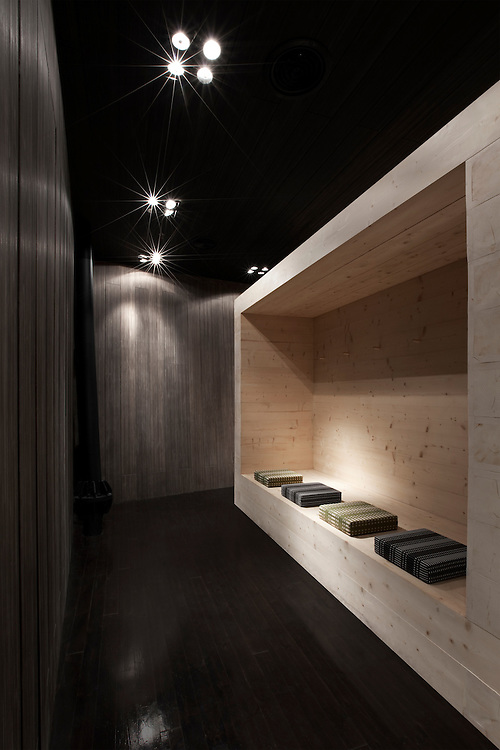 The VIP sauna quarters of Finland pavilion in the Shanghai Expo 2010 photographed by Tuomas Uusheimo.
