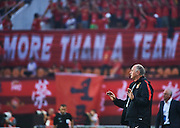 GUANGZHOU, CHINA - MAY 03:  Head coach of Guangzhou Evergrande Luiz Felipe Scolari reacts during the AFC Asian Champions League match between Guangzhou Evergrande FC and Sydney FC at Tianhe Stadium on May 3, 2016 in Guangzhou, China.  (Photo by Aitor Alcalde Colomer/Getty Images)