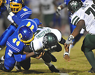 Oxford High's Xavier Pegues (44) vs. West Point in Oxford, Miss. on Friday, October 28, 2011..
