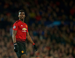 MANCHESTER, ENGLAND - Tuesday, February 12, 2019: Manchester United's Paul Pogba during the UEFA Champions League Round of 16 1st Leg match between Manchester United FC and Paris Saint-Germain at Old Trafford. (Pic by David Rawcliffe/Propaganda)