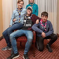Ella Cahill, Isaac Miniter, Gearoid Staunton and Sean Lynch members of Ennis 1st and 4th scout group attending the Concert for Ennis Scouts at Treacys West County