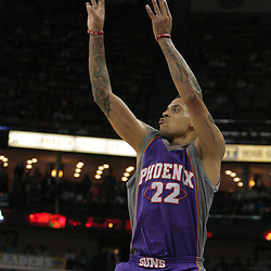 03 December 2008: Phoenix Suns forward Matt Barnes (22) shoots during a 104-91 victory by the New Orleans Hornets over the Phoenix Suns at the New Orleans Arena in New Orleans, LA..
