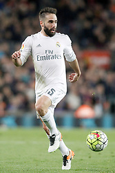 02.04.2016, Camp Nou, Barcelona, ESP, Primera Division, FC Barcelona vs Real Madrid, 31. Runde, im Bild Real Madrid's Daniel Carvajal // during the Spanish Primera Division 31th round match between Athletic Club and Real Madrid at the Camp Nou in Barcelona, Spain on 2016/04/02. EXPA Pictures © 2016, PhotoCredit: EXPA/ Alterphotos/ Acero<br /> <br /> *****ATTENTION - OUT of ESP, SUI*****