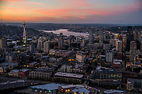 Space Needle, Lake Union & Belltown @ Sunset