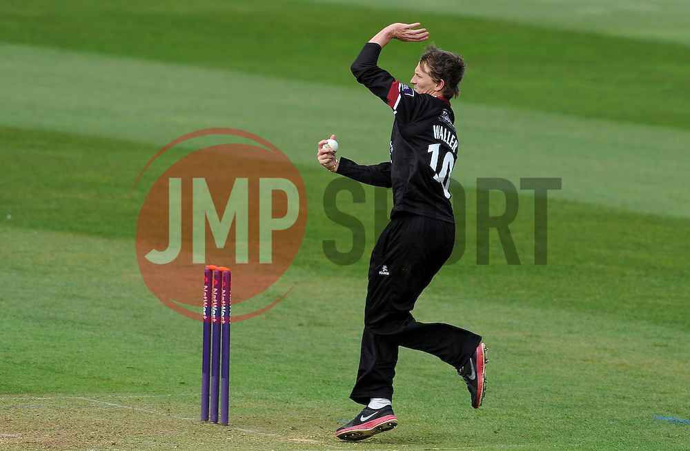 Somerset's Max Waller - Photo mandatory by-line: Harry Trump/JMP - Mobile: 07966 386802 - 30/03/15 - SPORT - CRICKET - Pre Season Fixture - T20 - Somerset v Gloucestershire - The County Ground, Somerset, England.
