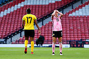 Lisa Evans (#11) of Scotland reacts to miss a shot during the International Friendly match between Scotland Women and Jamaica Women at Hampden Park, Glasgow, United Kingdom on 28 May 2019.