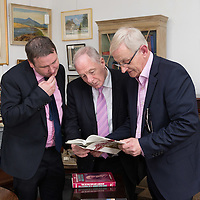 Joe Carey, TD, Michael Ring, TD, Junior Minister for Sport, and Paul Walshe, at the Official opening of 'The Castle', Antique, Arts & Craft Centre in Clarecastle
