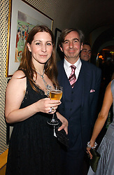MR & MRS DIMITRI HORNE at a dinner hosted by Stratis & Maria Hatzistefanis at Annabel's, Berkeley Square, London on 24th March 2006 following the christening of their son earlier in the day.<br />