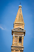 Leaning bell tower (campanile) of San Martino church, Burano, Veneto, Italy