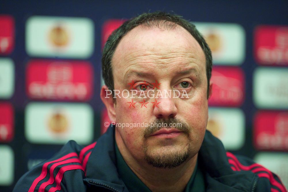 BUCHAREST, ROMANIA - Wednesday, July 24, 2007: Liverpool's manager Rafael Benitez during a press conference at the Radisson Blu Hotel ahead of the UEFA Europa League Round of 32 2nd Leg match against FC Unirea Urziceni. (Photo by David Rawcliffe/Propaganda)