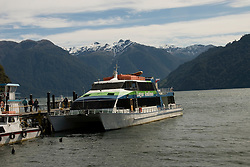 Chile, Lake Country: Boat for trip across Lake Todos Santos to Peulla.  .Photo #: ch638-33943..Photo copyright Lee Foster www.fostertravel.com, lee@fostertravel.com, 510-549-2202.