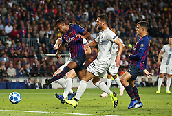 October 24, 2018 - Barcelona, Spain - Rafinha scores during the match between FC Barcelona and Inter, corresponding to the week 3 of the group stage of the UEFA Champions Leage, played at the Camp Nou Stadium, on 24th October 2018, in Barcelona, Spain. (Credit Image: © Joan Valls/NurPhoto via ZUMA Press)