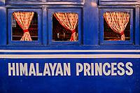 Inde, Bengale Occidental, Darjeeling, gare de Darjeeling, avec le célebre toy train du Darjeeling Himalayan Railway, Patrimoine Mondial de l'Unesco, nom  // India, West Bengal, Darjeeling, train station for the toy train from Darjeeling Himalayan Railway, Unesco world Heritage