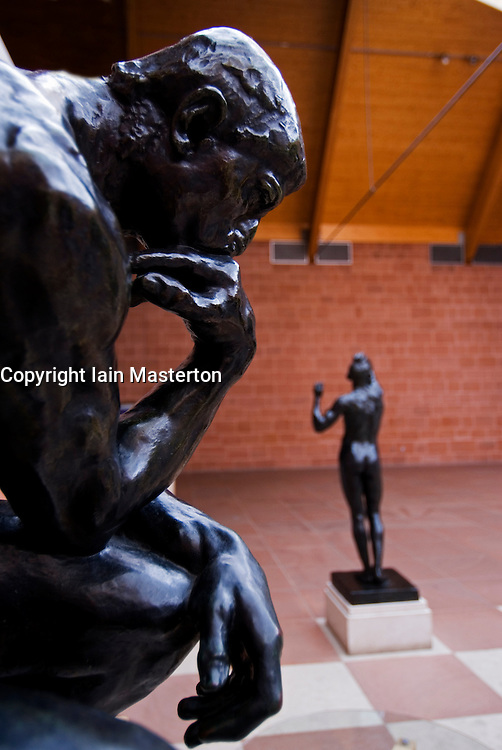 Sculpture by Rodin in famous Burrell Collection museum in Glasgow Scotland