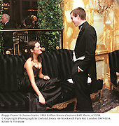 Poppy Fraser & James Irwin. 1998 Crillon Haute Couture Ball. Paris. 6/12/98<br />© Copyright Photograph by Dafydd Jones<br />66 Stockwell Park Rd. London SW9 0DA<br />Tel 0171 733 0108