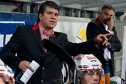 Head Coach of EC KAC Emanuel Viveiros during ice-hockey match between HDD Tilia Olimpija and EC KAC in 32nd Round of EBEL league, on December 28, 2010 at Hala Tivoli, Ljubljana, Slovenia. (Photo By Matic Klansek Velej / Sportida.com)