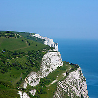 The majestic White Cliffs of Dover. On a perfectly clear day, you can stand in Calais, France across the channel and see the cliffs from the shore.