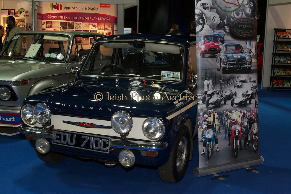 RIAC Classic Car Show 2013, RDS, Hillman Imp, one of the most successful small rally cars. The Imp was used extensively in rallying as was its main rival, the BMC Mini. Irish, Photo, Archive.