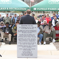 Mayor Jason Shelton spoke Saturday at Veterans Park during the Operation Grateful Nation, which saw 50 Vietnam Veterans come from Jackson