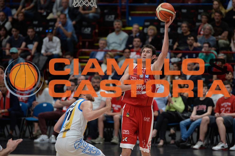 Davide Pascolo<br /> Olimpia EA7 Emporio Armani Milano vs Vanoli Cremona<br /> Lega Basket Serie A 2016/2017<br /> PlayOff semifinale gara 2<br /> Milano 14/05/2017<br /> Foto Ciamillo-Castoria / I.Mancini