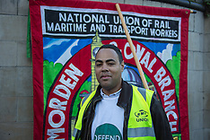 9 Dec 2015 - RMT protest to defend Glen Hart, victimised by London Underground.