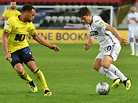 Football - 2018 / 2019 Sky Bet EFL Championship - Swansea City vs. Blackburn Rovers<br /> <br /> Daniel James of Swansea City attacks Elliott Bennett of Blackburn Rovers defends , at The Liberty Stadium.<br /> <br /> COLORSPORT/WINSTON BYNORTH