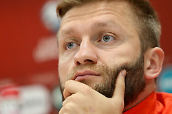 October 4, 2017 - Yerevan, Armenia - Polish national soccer team player Jakub Blaszczykowski attends a press conference in Yerevan, Armenia, 04 October 2017. Poland will face Armenia in the FIFA World Cup 2018 qualifying soccer match on 05 October 2017. (Credit Image: © Foto Olimpik/NurPhoto via ZUMA Press)