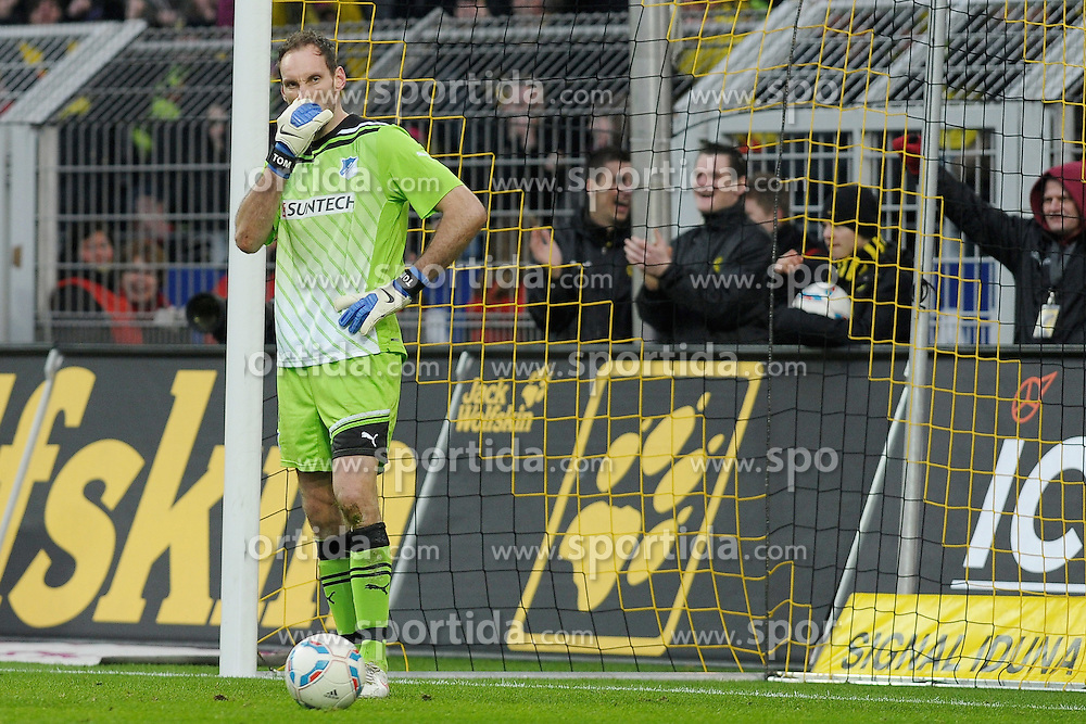 "28.01.2012, Signal Iduna Park, Dortmund, GER, 1. FBL, Borussia Dortmund vs 1899 Hoffenheim, 19. Spieltag, im Bild Tom Starke (Hoffenheim #33) // during the football match of the german ""Bundesliga"", 19th round, between GER, 1. FBL, Borussia Dortmund and 1899 Hoffenheim, at the Signal Iduna Park, Dortmund, Germany on 2012/01/28. EXPA Pictures © 2012, PhotoCredit: EXPA/ Eibner/ Ulrich Roth..***** ATTENTION - OUT OF GER *****"
