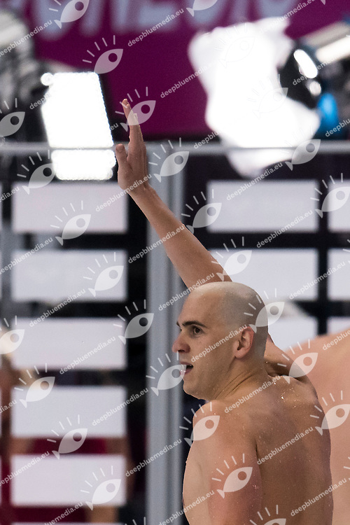 CSEH Laszlo HUN gold medal<br /> London, Queen Elizabeth II Olympic Park Pool <br /> LEN 2016 European Aquatics Elite Championships <br /> Swimming<br /> Men's 100m butterfly final<br /> Day 13 21-05-2016<br /> Photo Giorgio Perottino/Deepbluemedia/Insidefoto