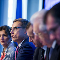 Brussels, Belgium - 25 September 2017 <br /> &quot;The Future of Finances&quot; conference.<br /> Alexander Stubb, Vice-President of the European Investment Bank (EIB)<br /> Photo: European Commission / Ezequiel Scagnetti