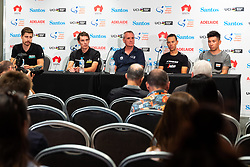 January 12, 2019 - TDU Official Race Press Conference, with Mike Turtur, TDU Race Director, Daryl Impey (Mitchelton-SCOTT) 2018 TDU Champion, Peter Sagan (BORA-hansgrohe), Richie Porte (Trek-Segafredo) & Caleb Ewan (Lotto-Soudal), Tour Down Under, Australia on the 12 of January 2019  (Credit Image: © Gary Francis/ZUMA Wire)