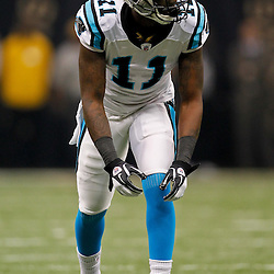 January 1, 2012; New Orleans, LA, USA; Carolina Panthers wide receiver Brandon LaFell (11) lines up for a play against the New Orleans Saints during the first quarter of a game at the Mercedes-Benz Superdome. Mandatory Credit: Derick E. Hingle-US PRESSWIRE