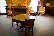 The furnishings of the Ambassadors Meeting Room where senior foreign diplomats wait for official meetings, in the Foreign and Commonwealth Office (FCO), on 17th September 2017, in Whitehall, London, England.