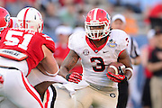Georgia Bulldogs running back Todd Gurley (3) during the Bulldogs 45-31 win over the Nebraska Cornhuskers in the Capital One Bowl at the Florida Citrus Bowl on Jan 1, 2013 in Orlando, Florida. ..©2012 Scott A. Miller..