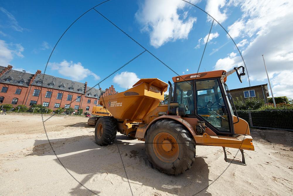 Bygning af Seniorboliger, Diakonissestiftelsen, Frederiksberg , gravemaskiner