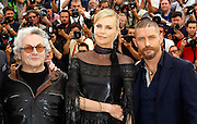 GEORGE MILLER, CHARLIZE THERON and TOM HARDY - PHOTOCALL FILM 'MAD MAX' - 68TH CANNES FILM FESTIVAL <br /> ©Exclusivepix Media