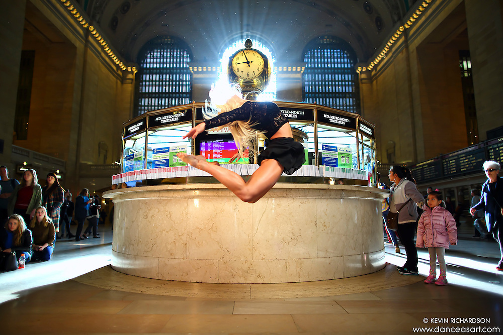 Dance As Art New York City Photography Project Grand Central Series with dancer, Jenny Bohlstrom