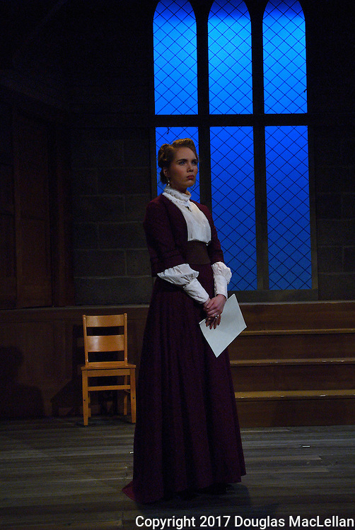 "CANADA, Windsor. January, 2017. Univeristy Players production of ""Blue Stockings"" by Jessica Swale."