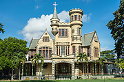 "Stollmeyers Castle, one of the ""Magnificent Seven"" historic colonial homes facing Queens Park Savannah in Port of Spain, Trinidad island; Trinidad & Tobago."