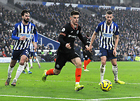 Football - 2019 / 2020 Premier League - Brighton & Hove Albion vs. Chelsea<br /> <br /> Mason Mount of Chelsea with Brighton's Adam Webster and Davy Propper, at The Amex.<br /> <br /> COLORSPORT/ANDREW COWIE