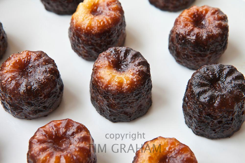 Les Caneles de Bordeaux cakes regional speciality food from Bordeaux, France