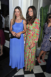 Left to right, MIRA SORVINO and LADY NATASHA RUFUS ISAACS at a reception hosted by Beulah London and the United Nations to launch Beulah London's AW'11 Collection 'Clothed in Love' and the Beulah Blue Heart Campaign held at Dorsia, 3 Cromwell Road, London SW7 on 18th October 2011.